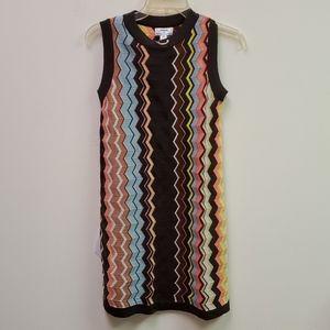 NWT Missoni Retro Zig Zag Knit Multicolor Dress